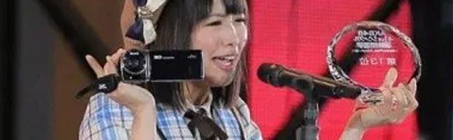 JVCさんが松村香織さんへビデオカメラ提供!総選挙投票も!!